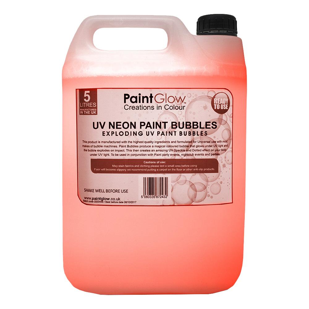 PaintGlow UV Neon Bubbelvätska - Orange