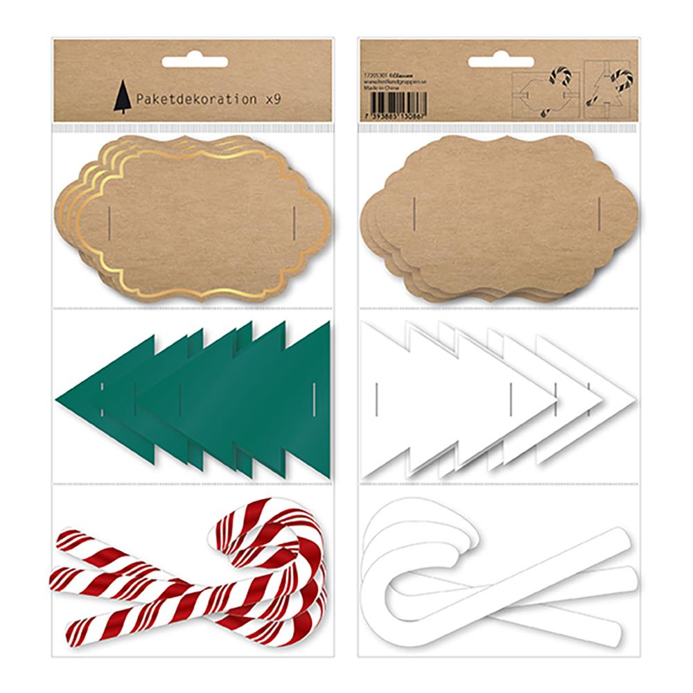 Paketdekoration Mix - 9-pack
