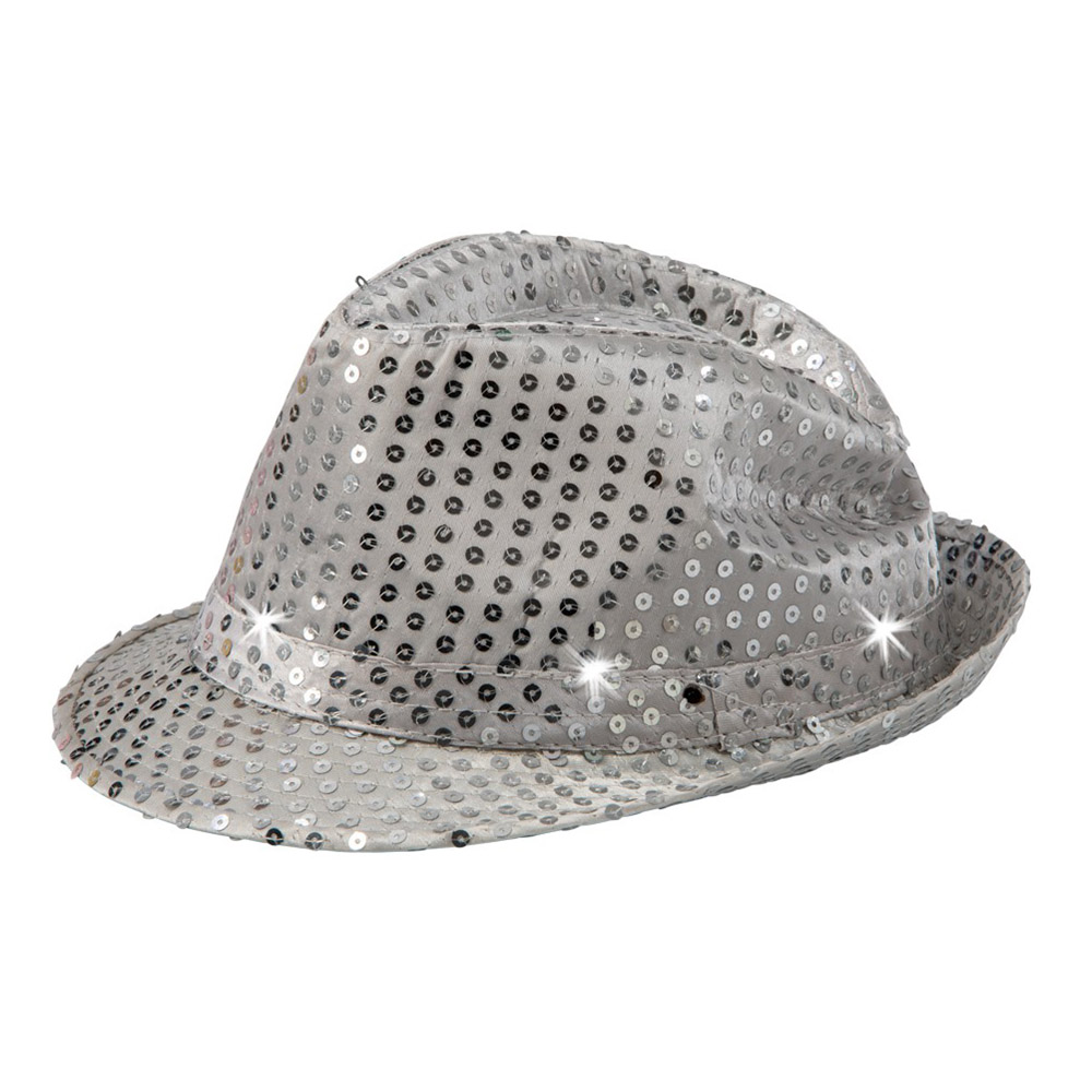 Paljetthatt Silver - One size