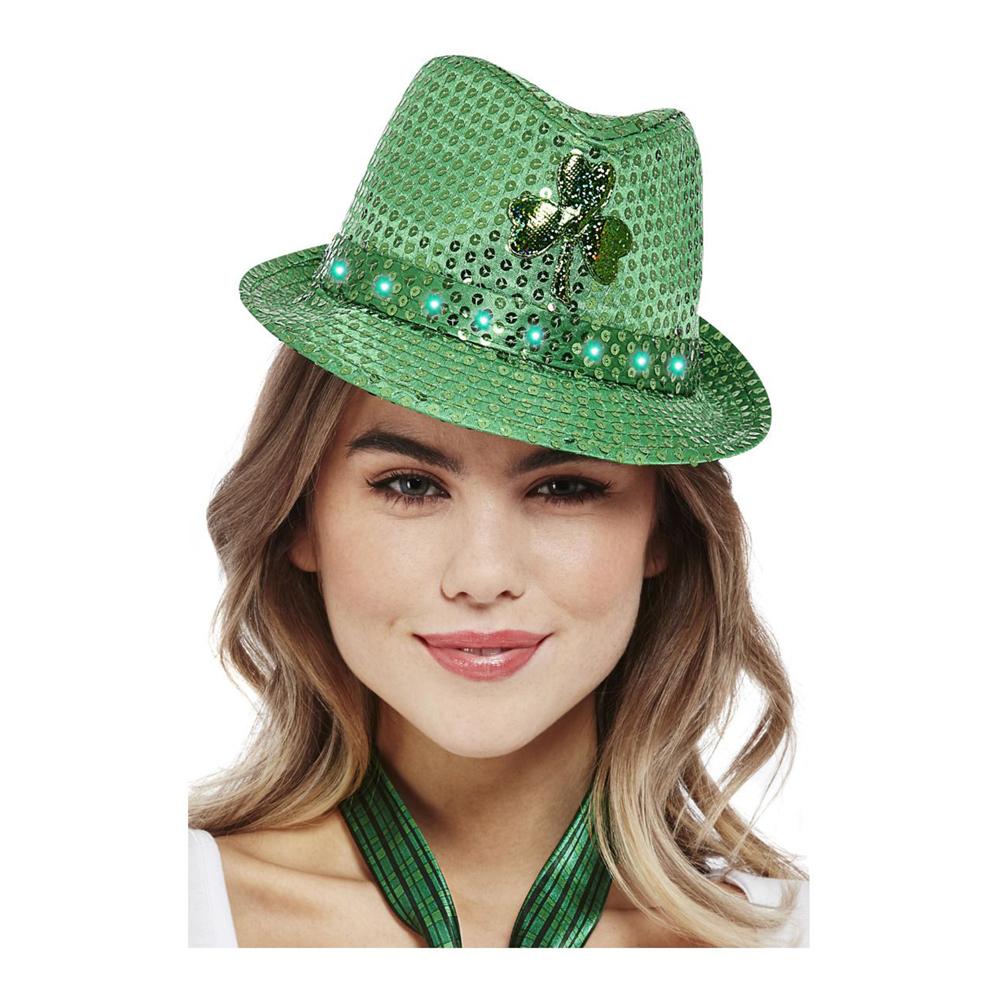 Paljetthatt St Patricks Day Grön - One size