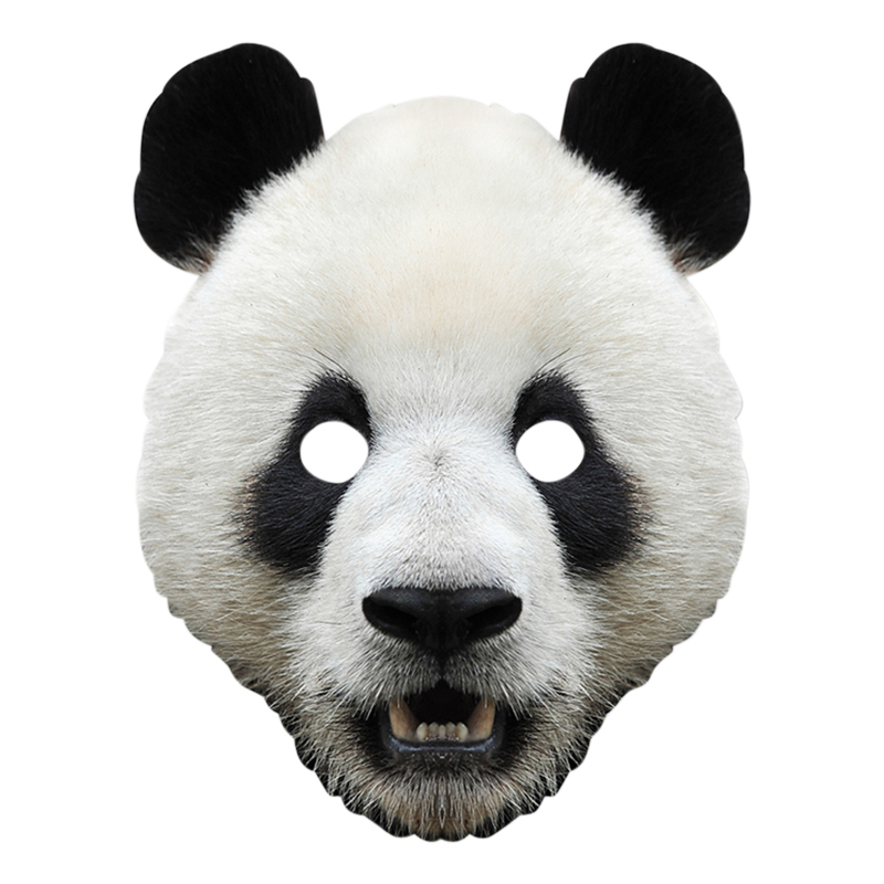 Pappmasker - Panda Pappmask