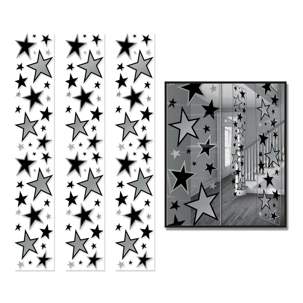 Paneler Stjärnor Hängande Dekoration - 3-pack