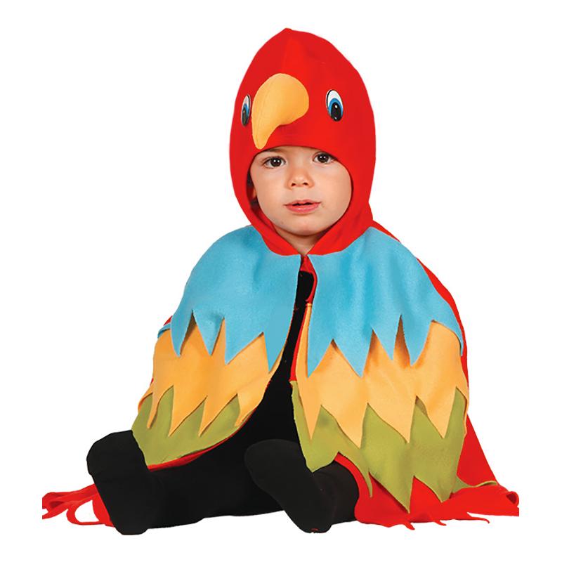 Papegoja Bebis Maskeraddräkt - 12-24 mån