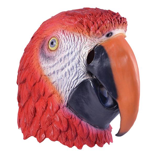 Djurmasker - Papegojamask i Gummi - One size
