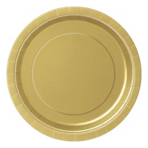 Pappersassietter Guld - 20-pack