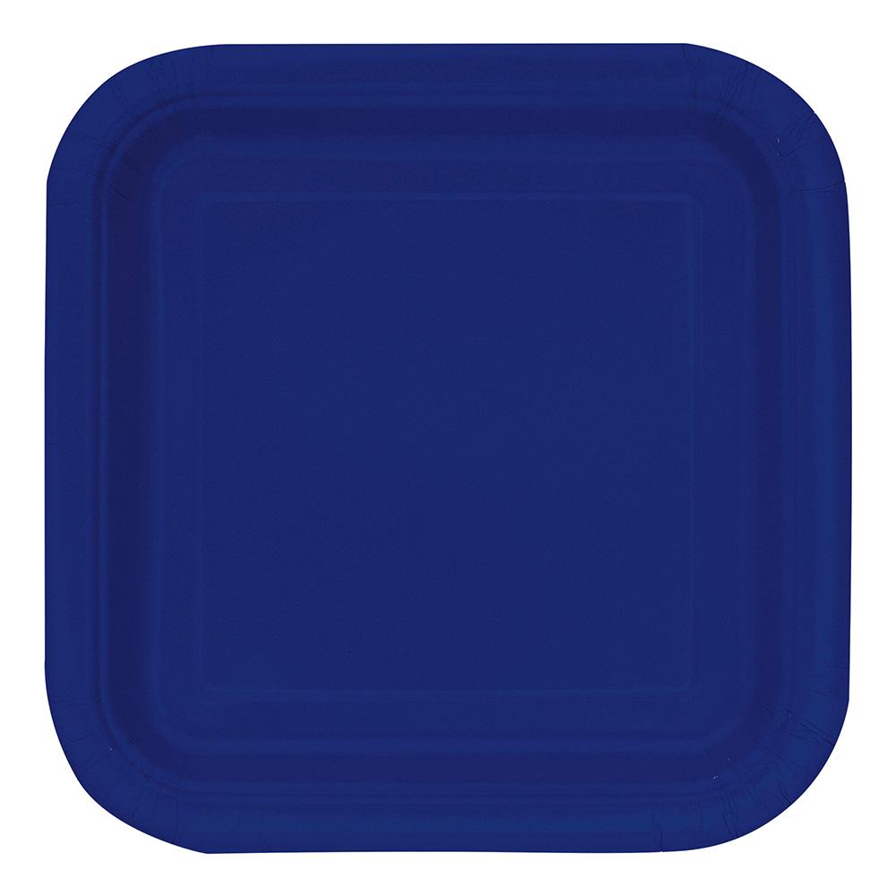 Pappersassietter Kvadrat Mörkblå - 16-pack
