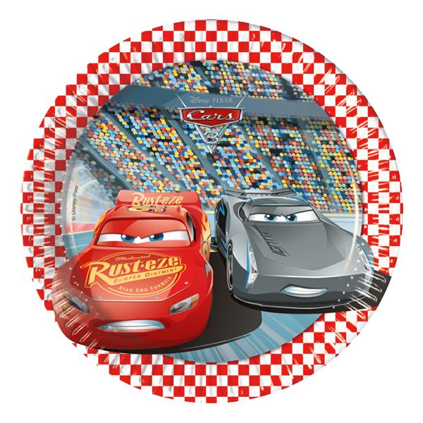 Pappersassietter Bilar/Cars 3 - 8-pack