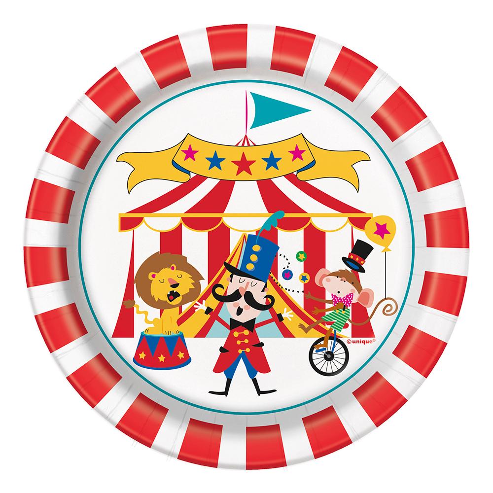 Pappersassietter Cirkus - 8-pack