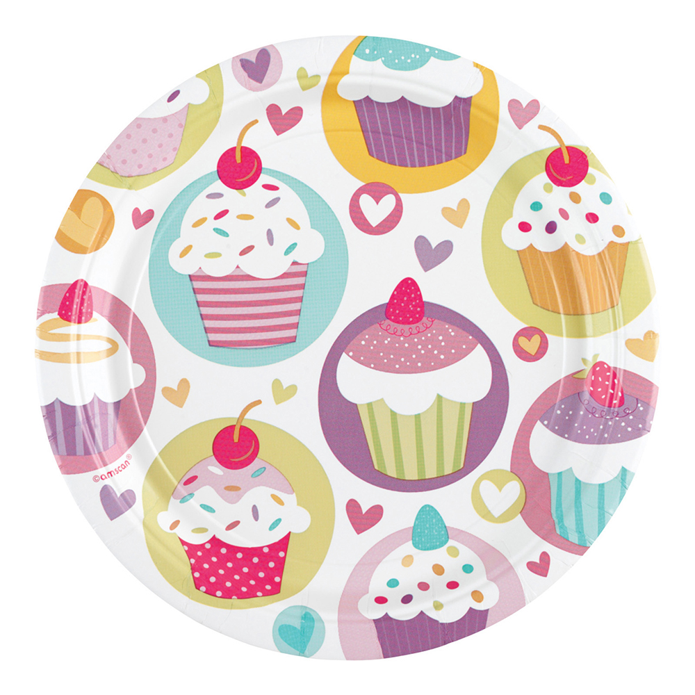 Pappersassietter Cupcakes - 8-pack