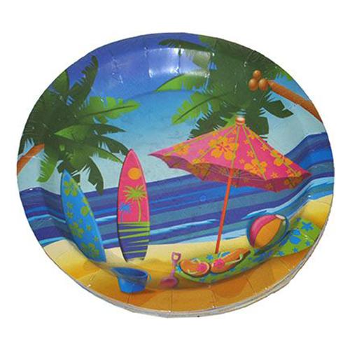 Pappersassietter Hawaii Beach - 8-pack