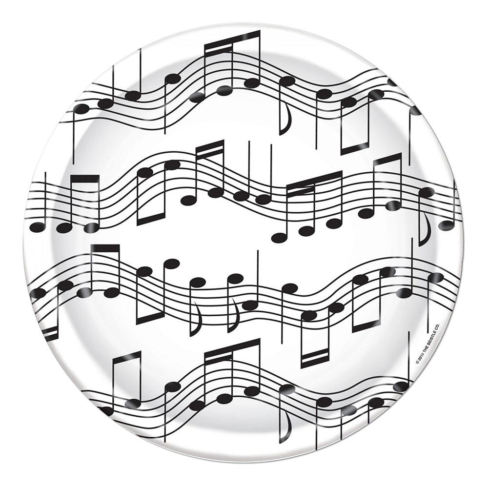 Pappersassietter Musiknoter - 8-pack