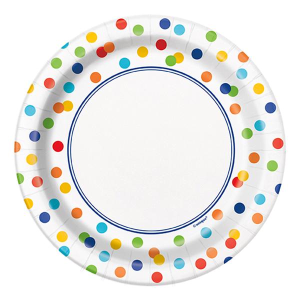 Pappersassietter Polka Dot - 8-pack