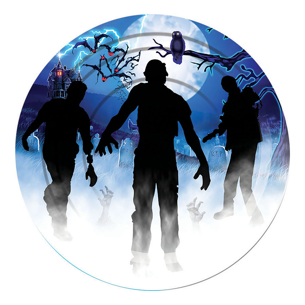Pappersassietter Zombie - 8-pack