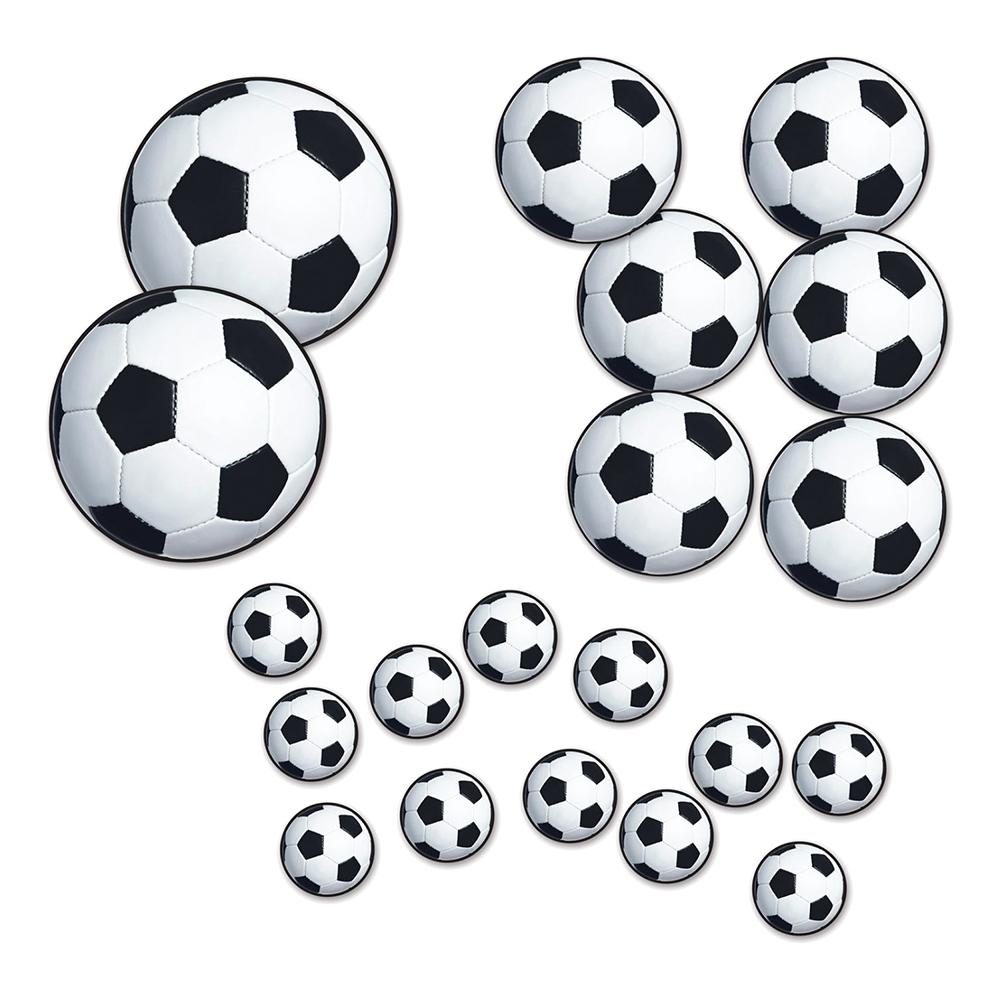 Pappersdekorationer Fotbollar