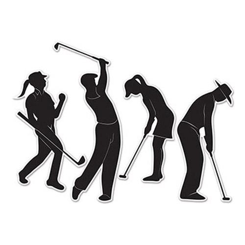 Pappersdekorationer Golfspelare - 4-pack | Hem//Festartiklar//Dekoration//Bordsdekorationer | Partyoutlet