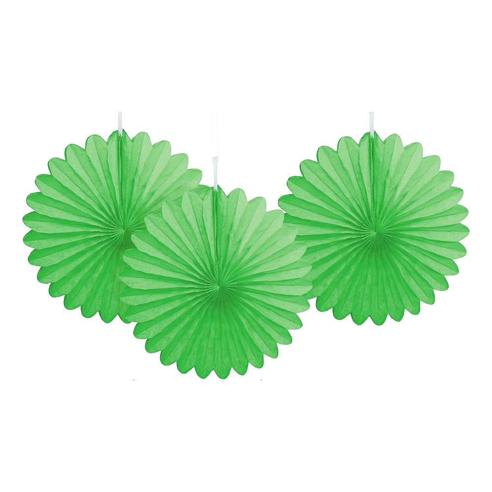 Pappersfjädrar Limegröna Mini Hängande Dekoration - 3-pack