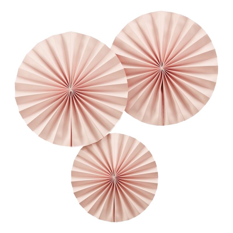 Pappersfjädrar Ljusrosa Hängande Dekoration - 3-pack
