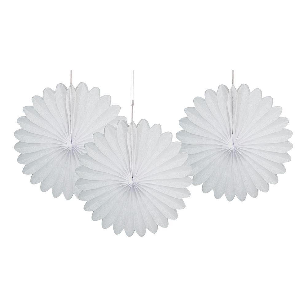 Pappersfjädrar Vita Mini Hängande Dekoration - 3-pack