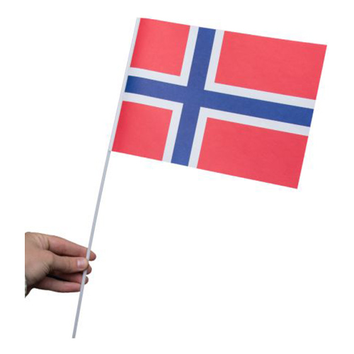 Pappersflagga Norge - 1-pack