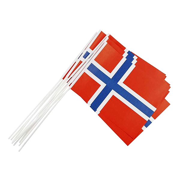 Pappersflaggor Norge - 10-pack