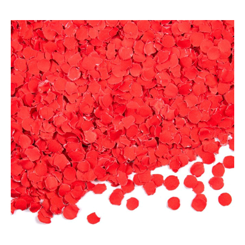 Papperskonfetti Röd - 1 kg