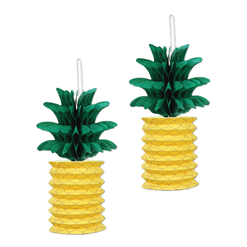 Papperslyktor Ananas - 2-pack