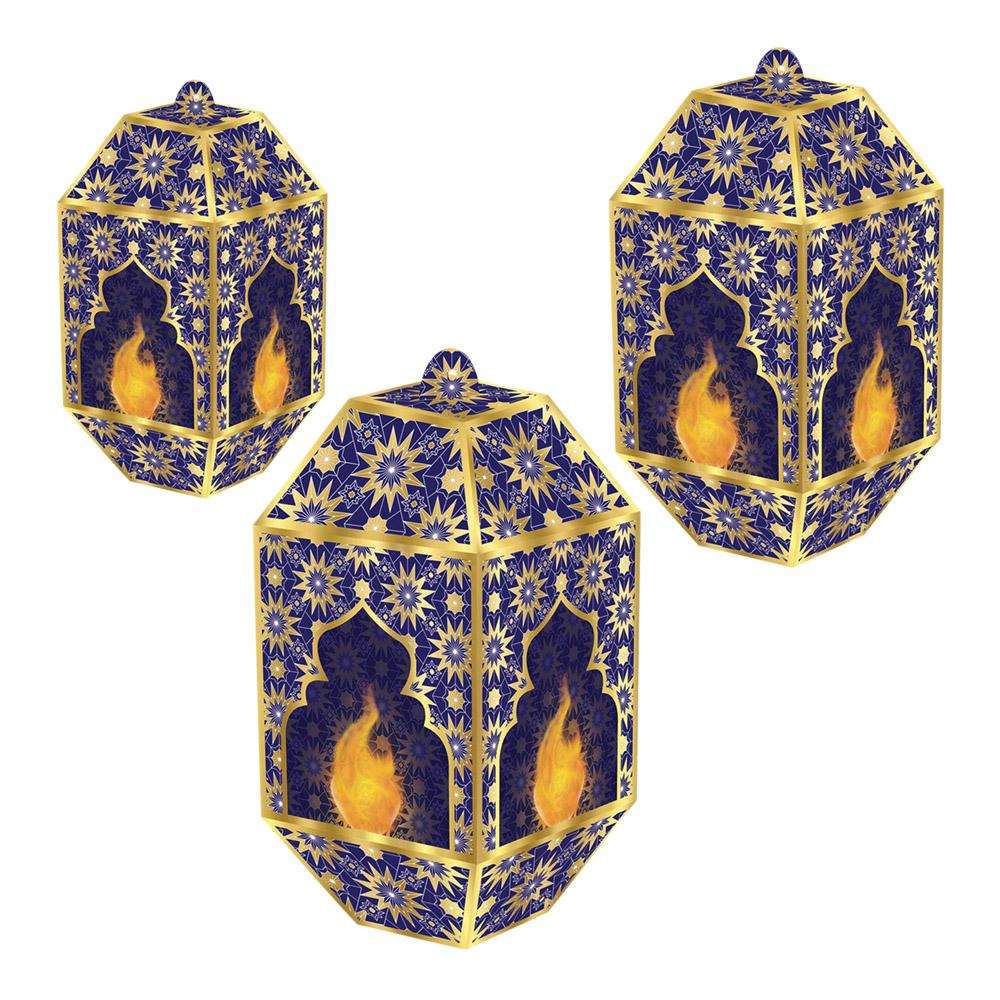 Rislampor Ramadan Hängande - 3-pack