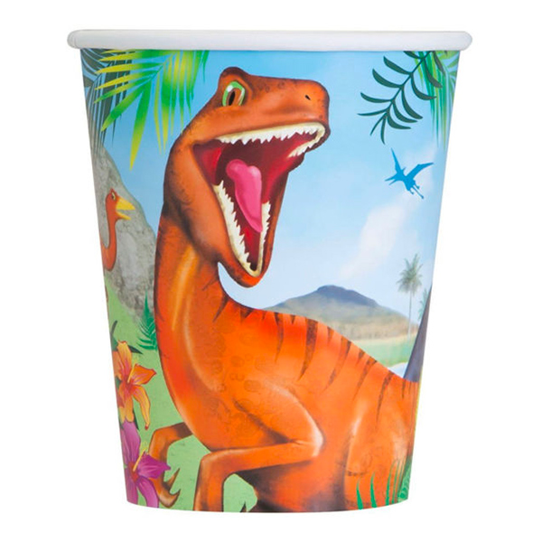 Dinosaurie - Pappersmuggar Dinosaurie - 8-pack