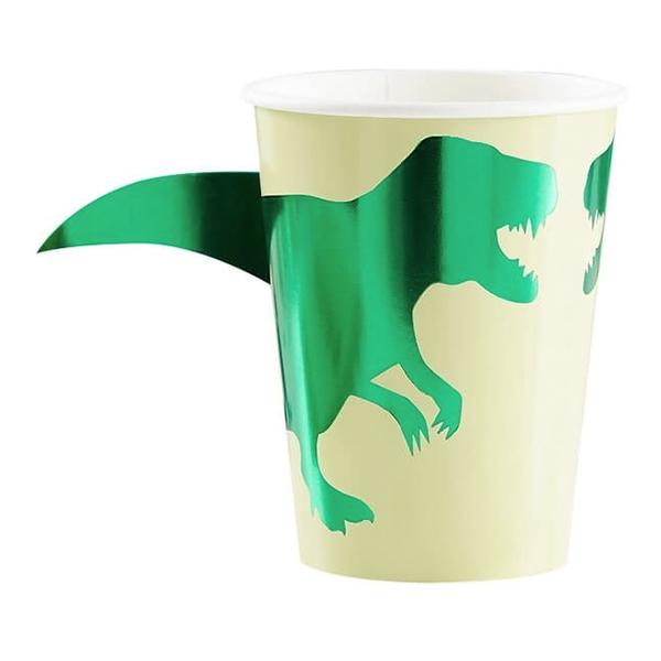 Dinosaurie - Pappersmuggar Dinosaurie Metallic - 8-pack