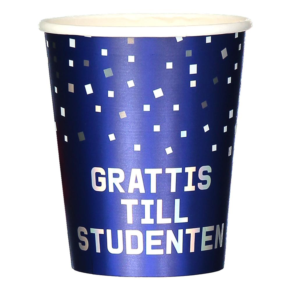Pappersmuggar Grattis Till Studenten - 8-pack