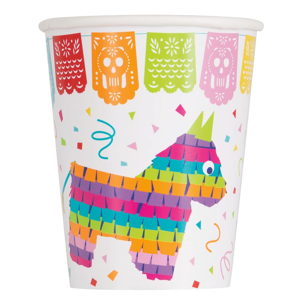 Pappersmuggar Mexico Fiesta Pinata - 8-pack