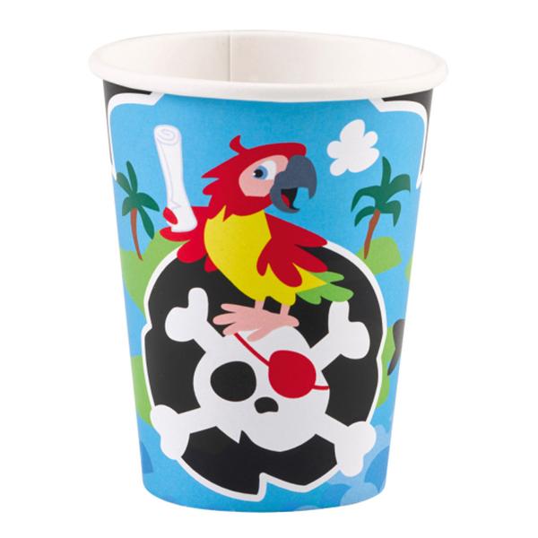 Pappersmuggar Pirat Jolly Roger - 8-pack