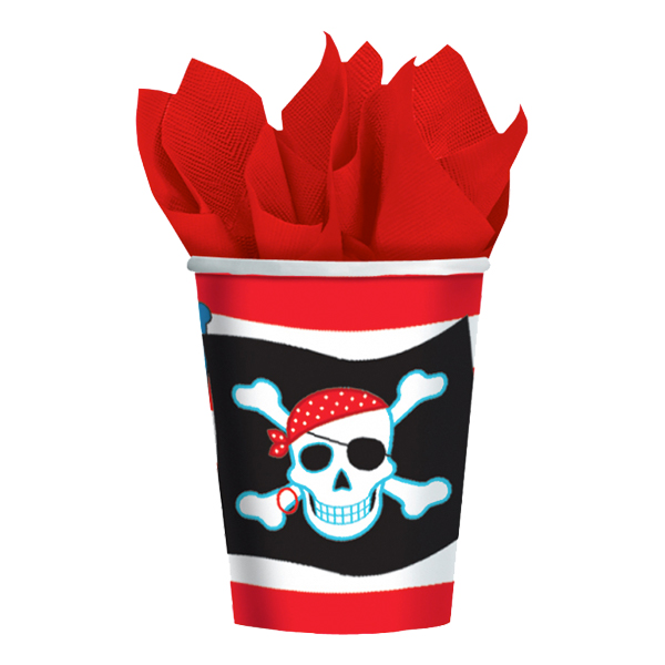 Pappersmuggar Jolly Roger - 8-pack
