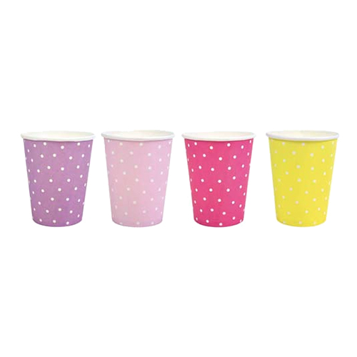 Pappersmuggar Prickig Rosa/Lila/Gul - 8-pack