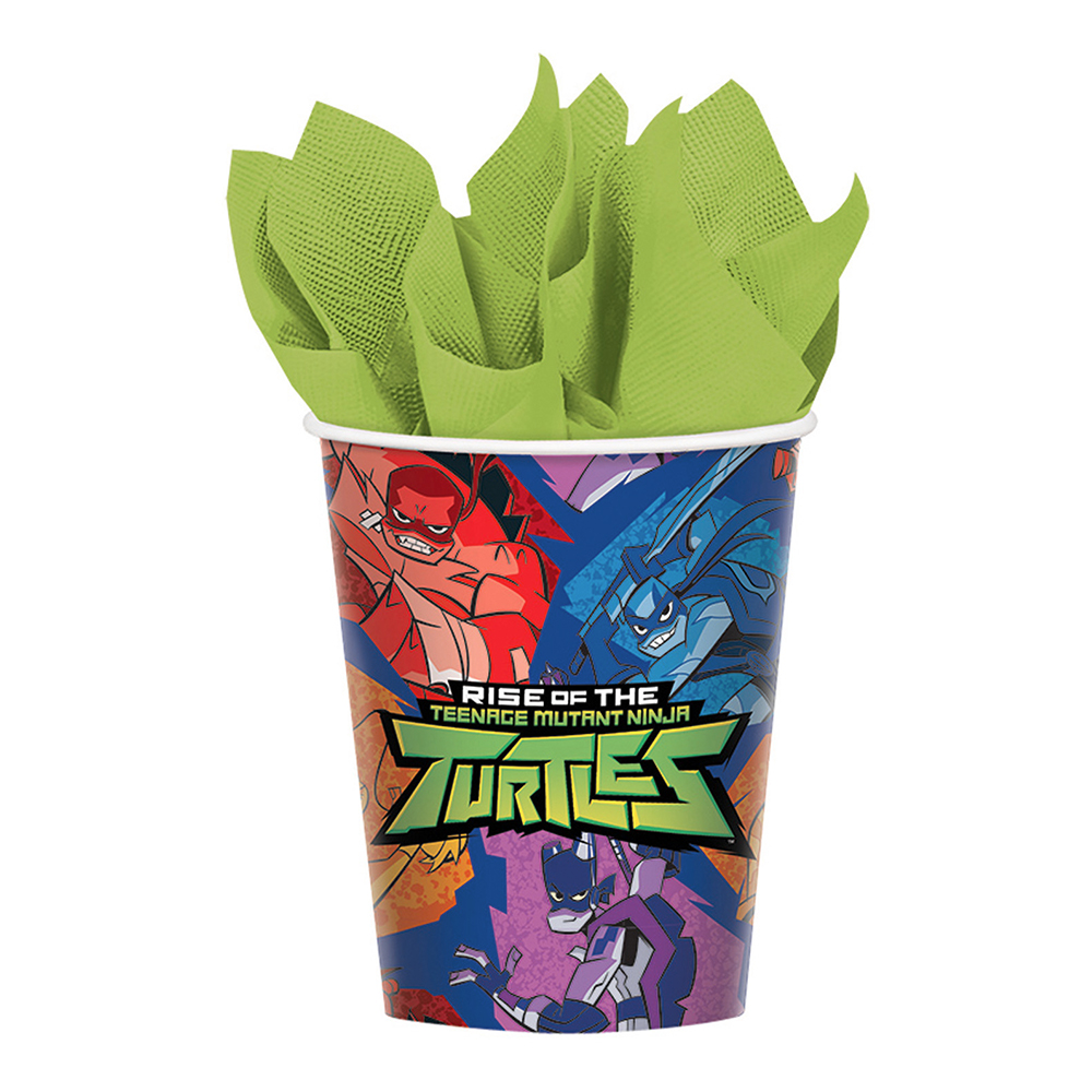 Pappersmuggar Rise Of The Ninja Turtles - 8-pack 266 ml