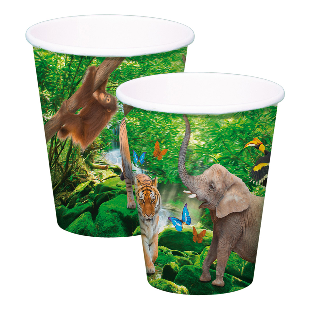 Pappersmuggar Safari Party - 8-pack