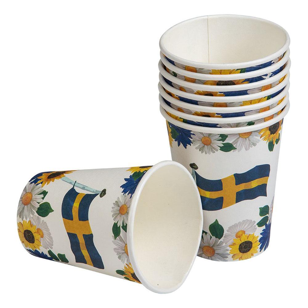 Pappersmuggar Svensk Sommar - 8-pack