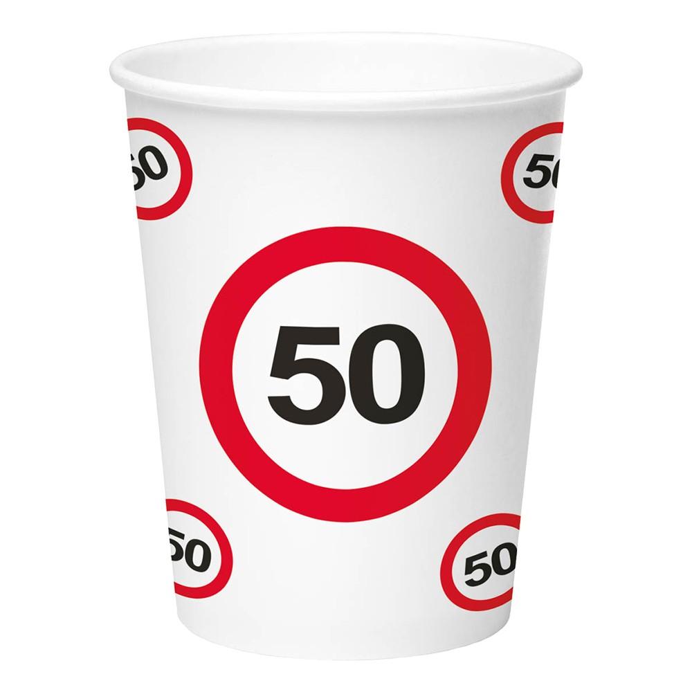 Pappersmuggar Trafikskylt - Trafikskylt 50