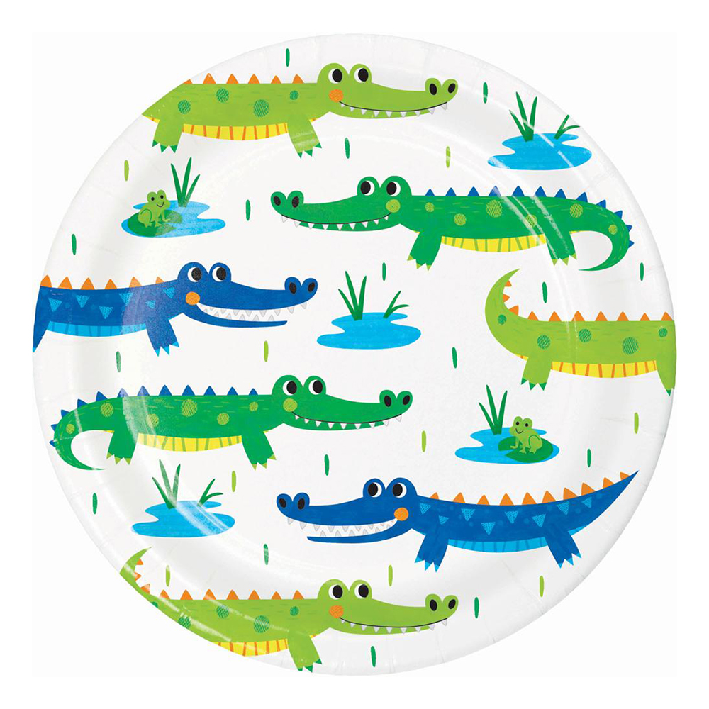 Pappersassietter Alligator Party - 8-pack