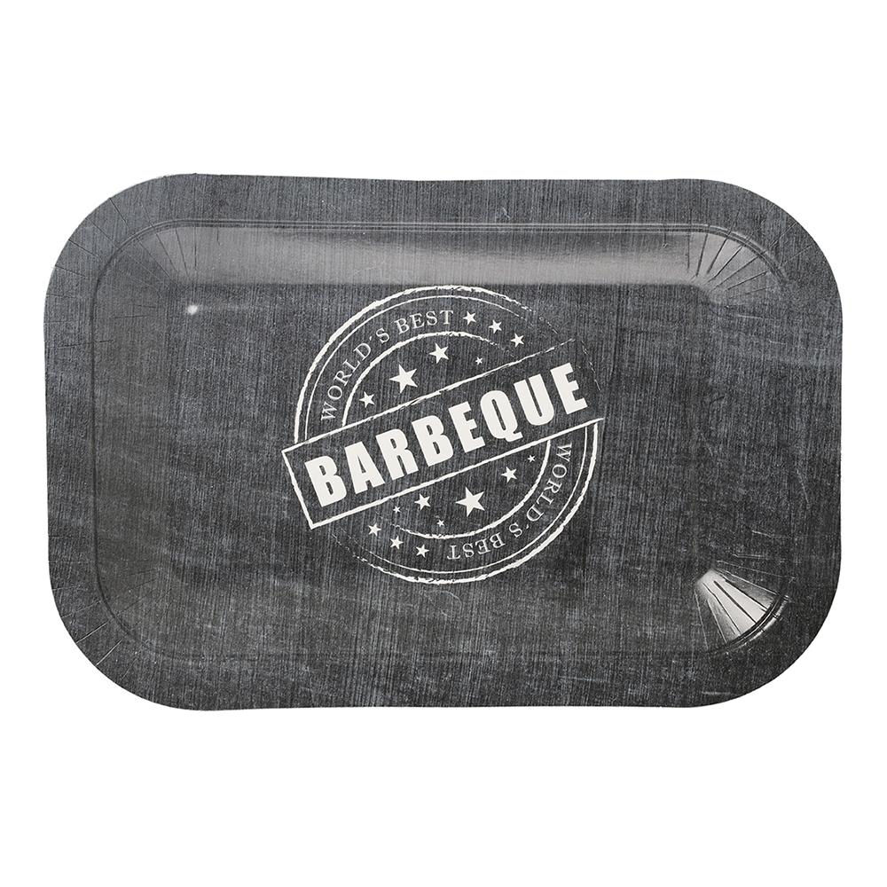 Papperstallrikar Barbeque Grå - 8-pack