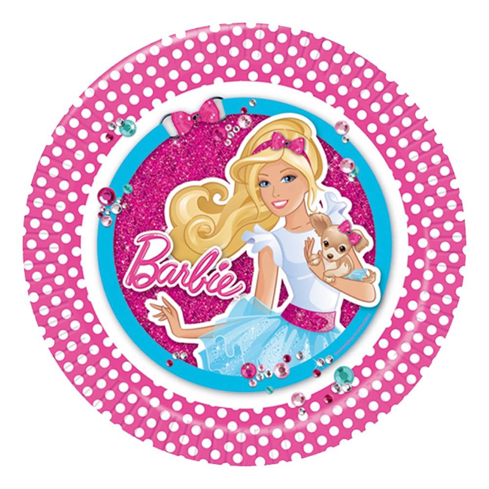 Papperstallrikar Barbie - 8-pack