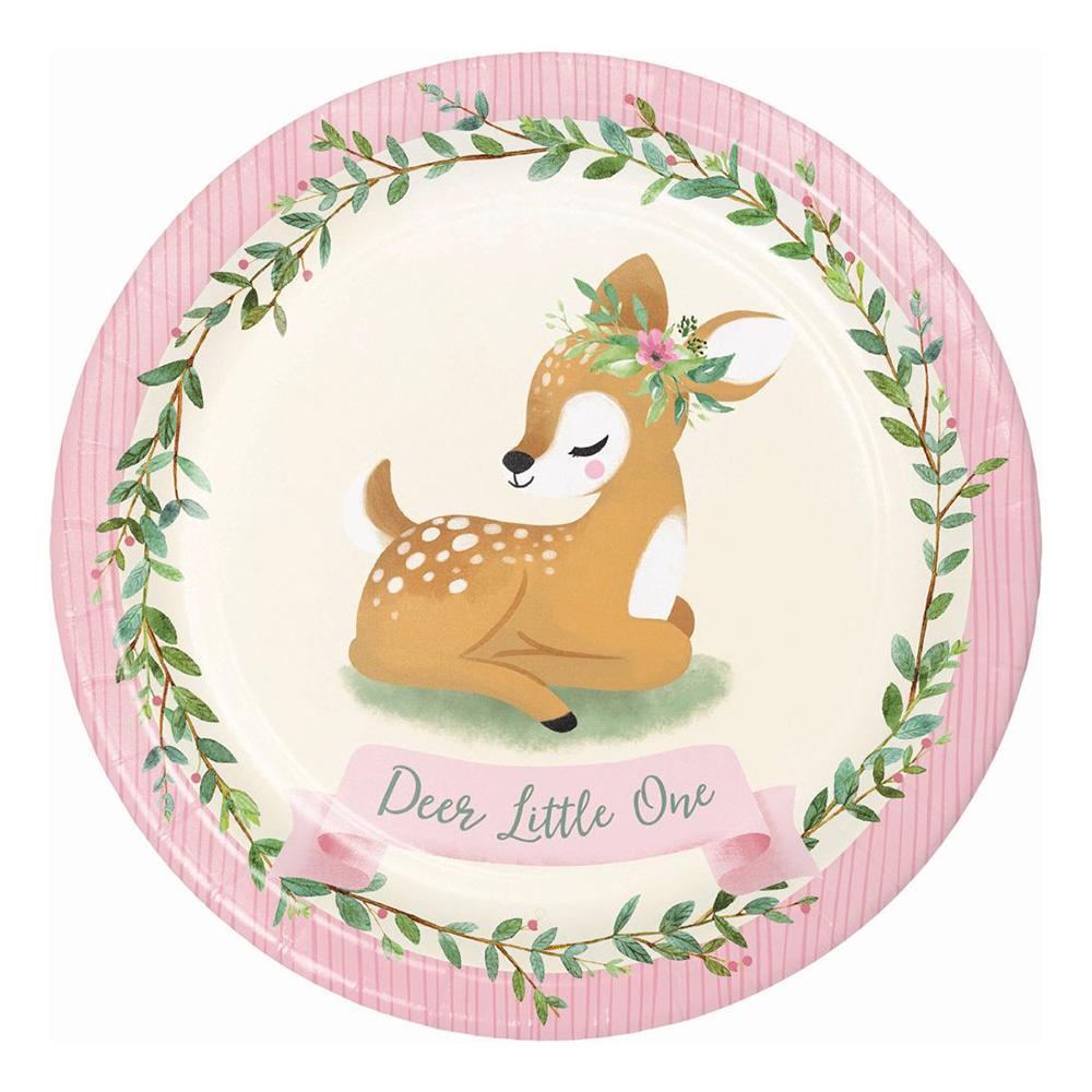 Papperstallrikar Deer Little One - 8-pack