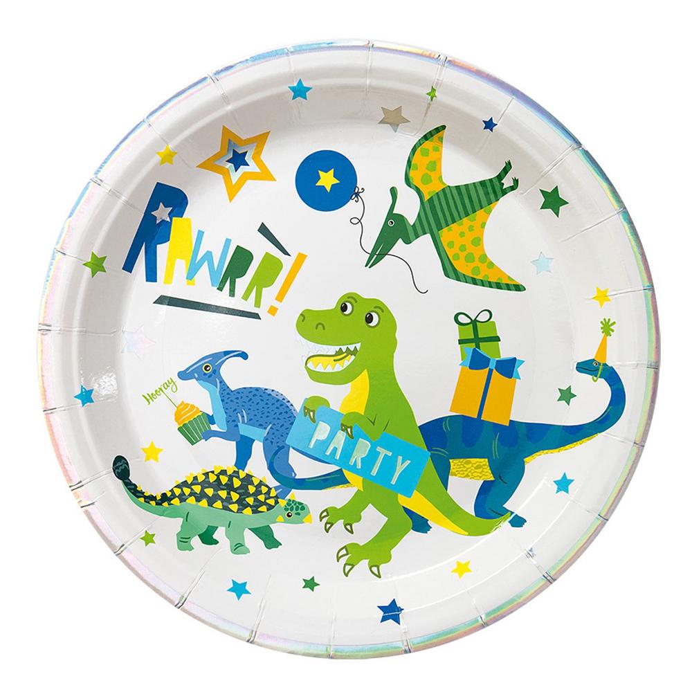 Papperstallrikar Dino Party - 8-pack