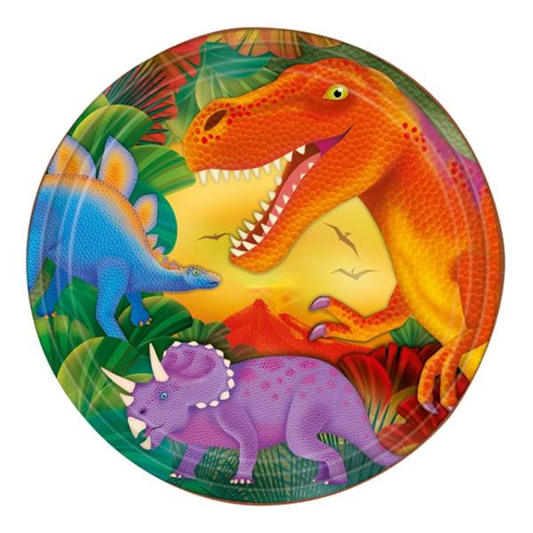 Dinosaurie - Papperstallrikar Dinosaurier - 8-pack
