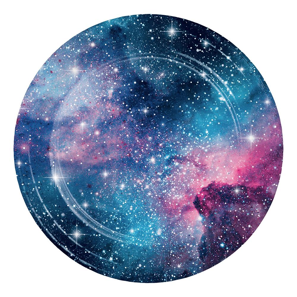 Papperstallrikar Galaxy - 8-pack
