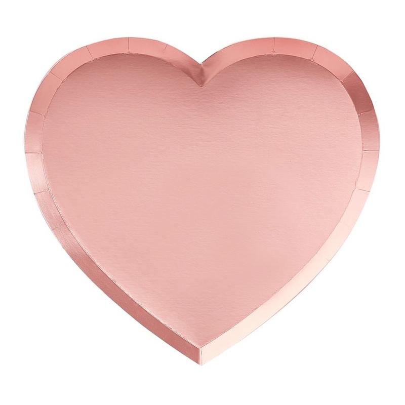 Papperstallrikar Hjärtformade - 8-pack