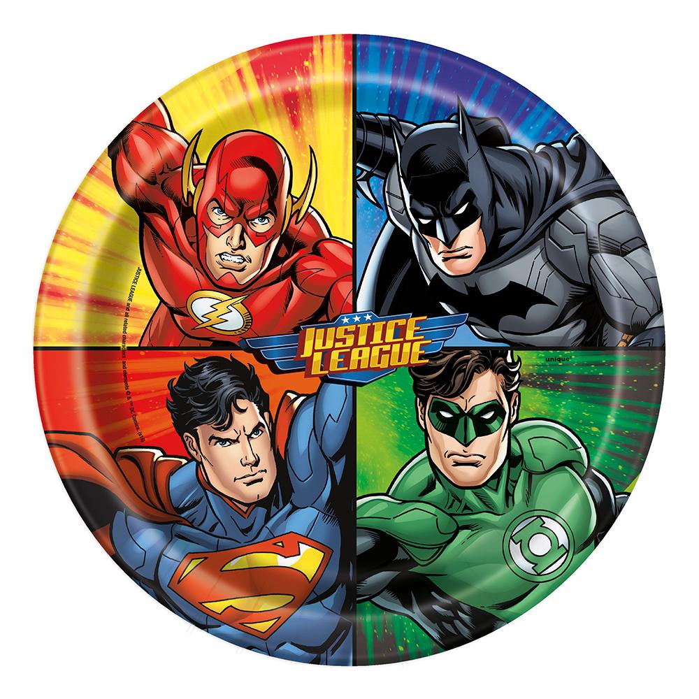 Papperstallrikar Justice League - 8-pack