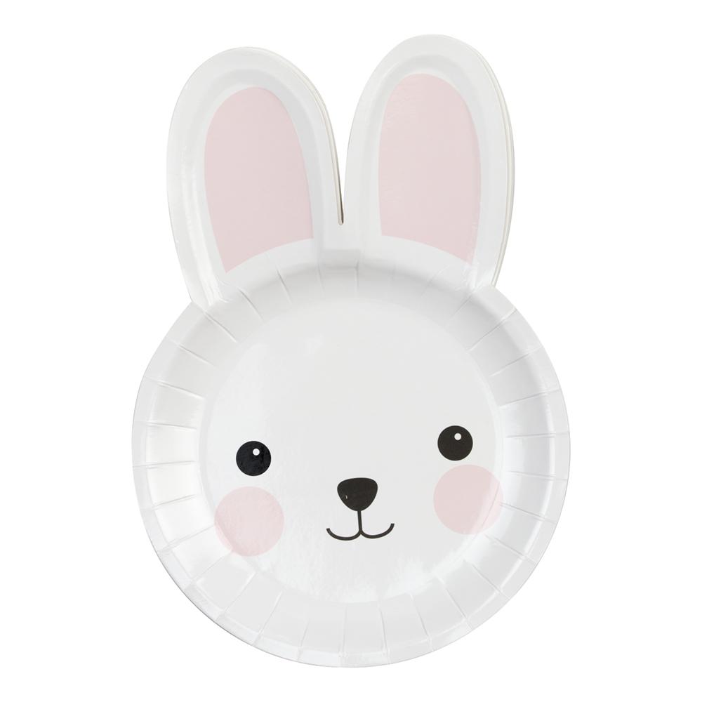 Papperstallrikar Kanin - 8-pack