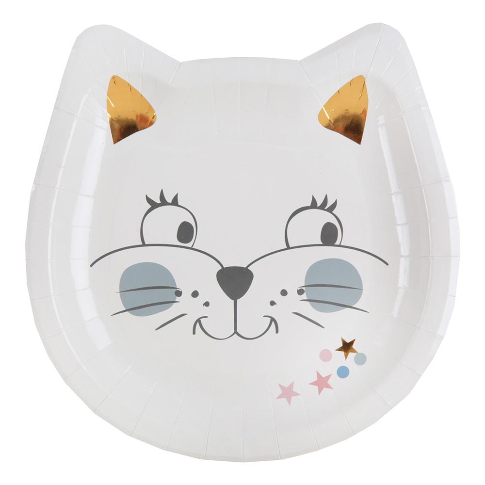 Papperstallrikar Kitty Party - 10-pack