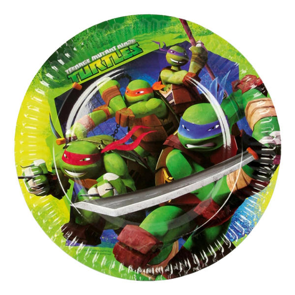 Papperstallrikar Ninja Turtles - 8-pack